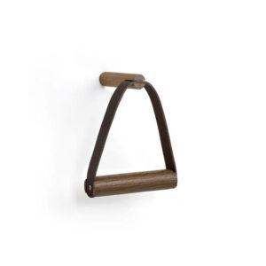 by Wirth houten toiletrolhouder gerookt eikenhout en Leer byJensen