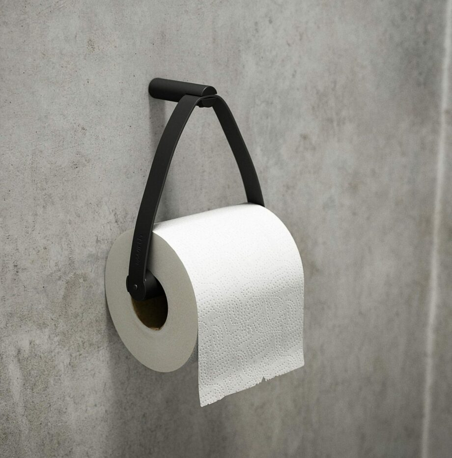 by-wirth-toiletrolhouder-zwart-hout-leer