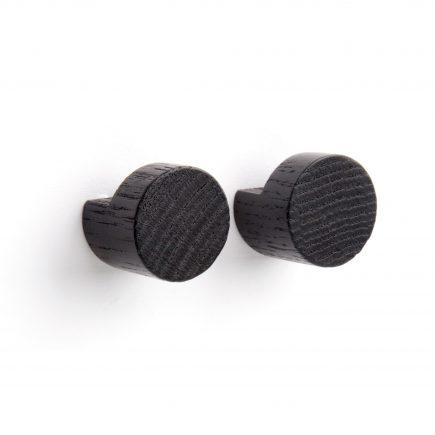 Wandhaken in Eikenhout zwart van By Wirth