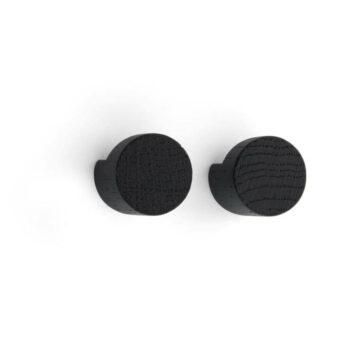 by Wirth Wood knot wandhaken zwart