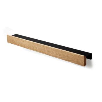 flex rail wandplank eiken zwart messenmagneet gejst Design byjensen
