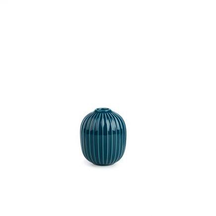 Hoge blauwe keramische kandelaar van Kahler