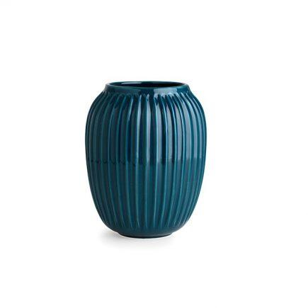 Blauwe keramiek vaas van Kähler