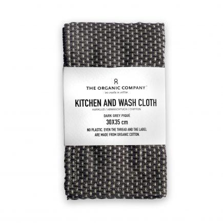 Luxe keukendoek biologisch katoen donker grijs van The Organic Company