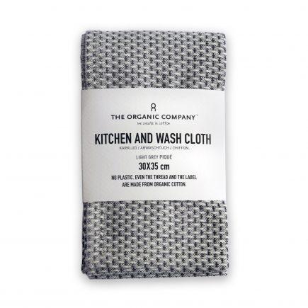 Licht grijze keukendoekdoek biologisch katoen van The Organic Company