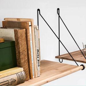 We Do Wood Loop Shelf Bamboe Zwart byJensen
