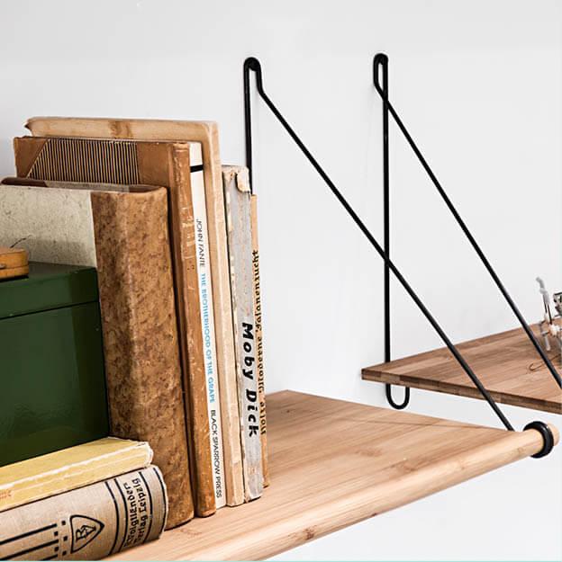 we do wood wandplank loop shelf bamboe online. Black Bedroom Furniture Sets. Home Design Ideas