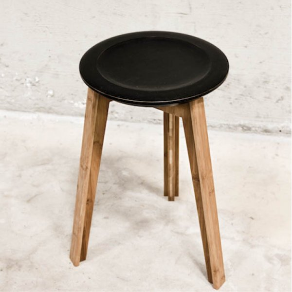 We Do Wood bamboe Kruk zwart Button Stool kruk