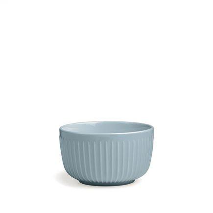 Licht blauwe ontbijtschaal in prachtig keramiek
