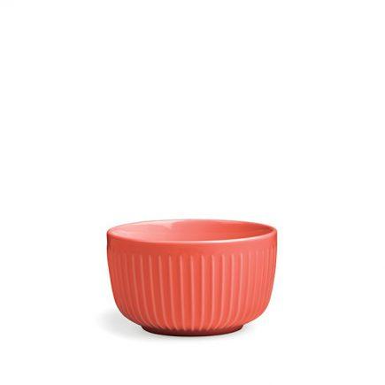 Rode ontbijt schaal van keramiek Kahler