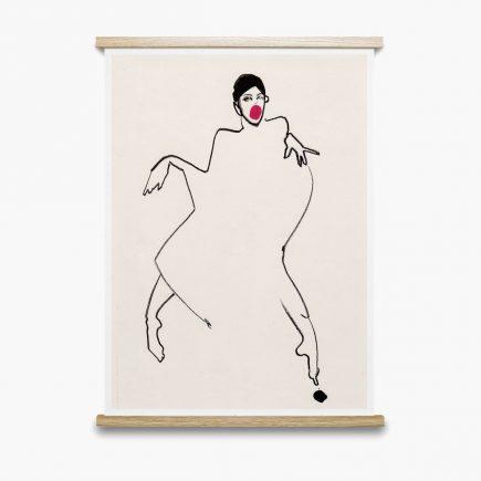 Danser Poster 50x70cm van Paper Collective
