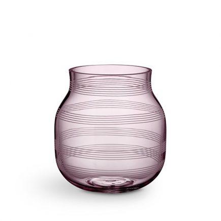 Kähler glas vaas pruimkleur Omaggio