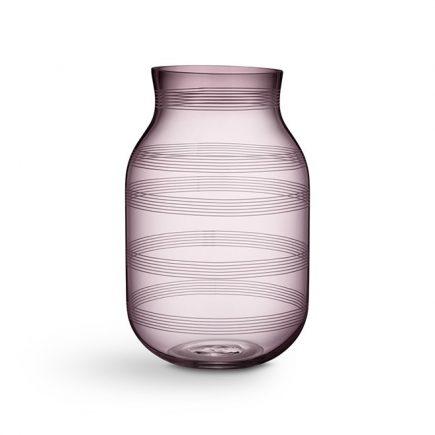 Glasvaas hoog pruimkleur Omaggio van Kähler