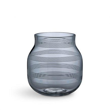 Doorzichtig blauw glazen vaas Omaggio van Kahler