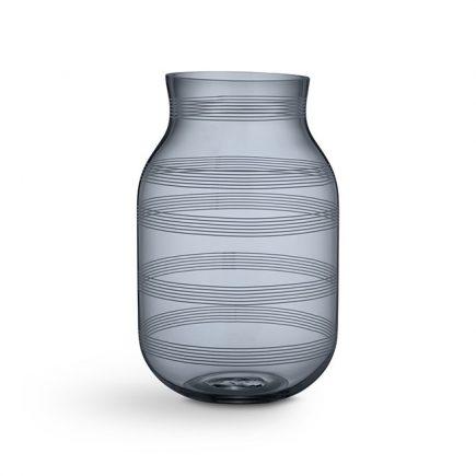 Hoge doorzichtig glazen vaas Omaggio van Kahler