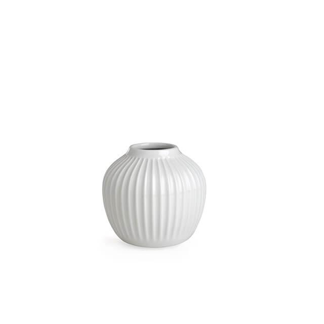 Witte Hammershoi vaas van Kahler 12,5 cm