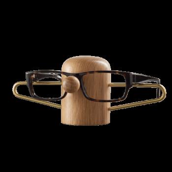 brilholder van eikenhout en messing van dot aarhus