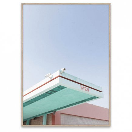 LA is Pink photo-art poster van Paper Collective