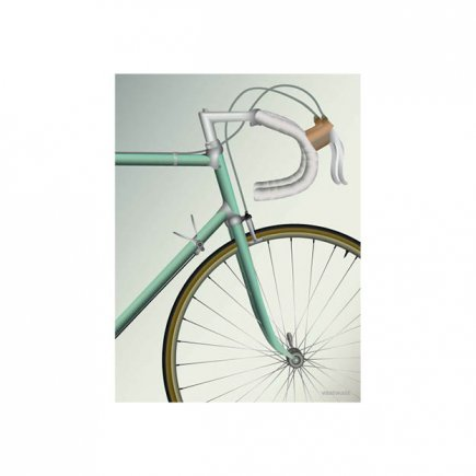 Racefiets - Racing bicycle poster 30x40 van VisseVasse byJensen