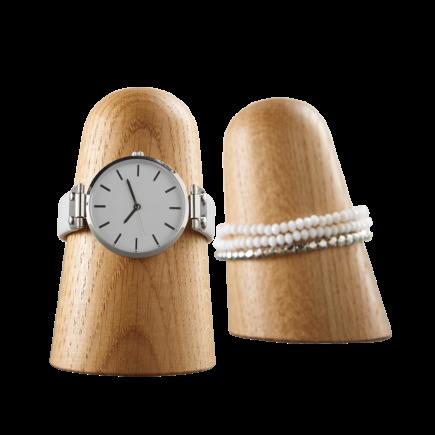 Time-off horlogehouder of armbandhouder eikenhout van dot aarhus