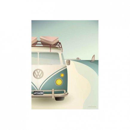 VW Camper poster 30x40 cm van VisseVasse byJensen