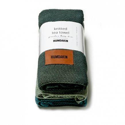 Gebreide handdoekjes van Humdakin in Nordic Dark biologisch katoen