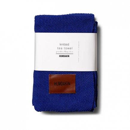 Gebreide handdoek 3-pak blauw blue cloud van Humdakin