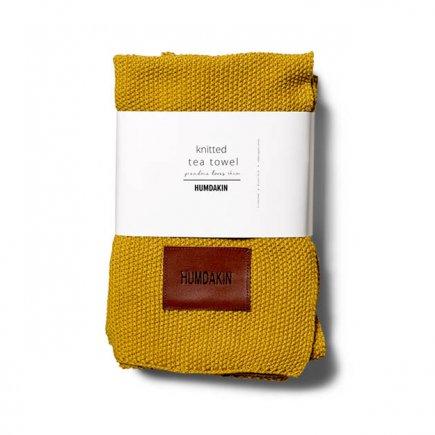 Gebreide handdoek 3-pak okergeel van Humdakin