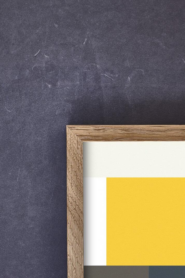 Posterlijst van Paper Collective in massief eikenhout