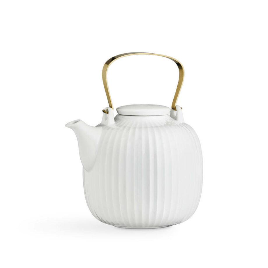 Witte theepot 1,2 liter uit de Hammershøi collectie van Kähler