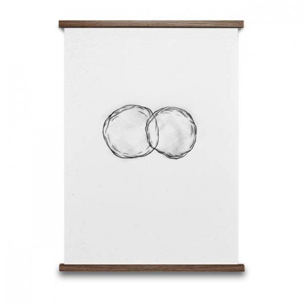 Cells poster zwart wit 50x70 van Paper Collective byJensen