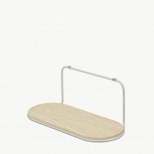 Wire Shelf wit van Skagerak Metaal en essenhout