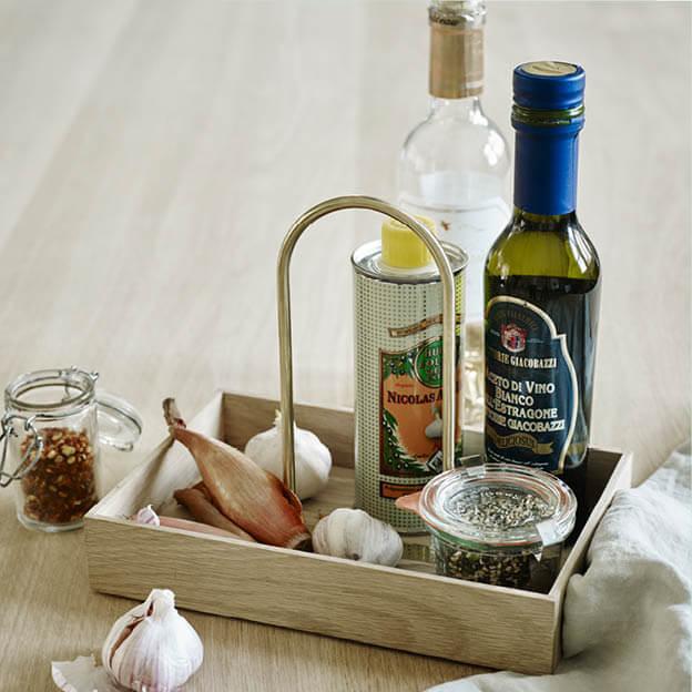 Norr box keuken organiser voor azijn, olie en kruiden van Skagerak byJensen
