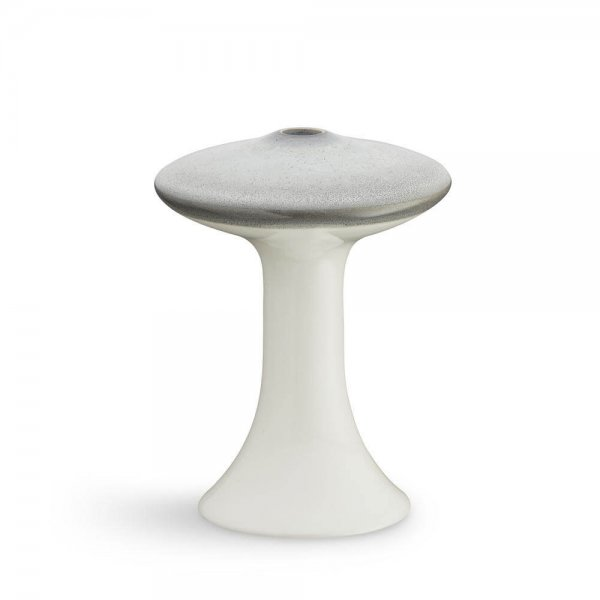 Ahlmann paddenstoel kandelaar wit en grijs