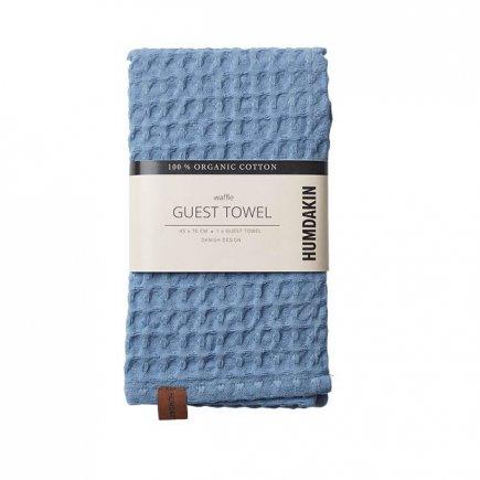 Gewafelde handdoek licht blauw van Humdakin byJensen