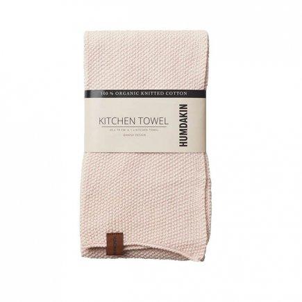 Roze gebreide handdoek van Humdakin byJensen