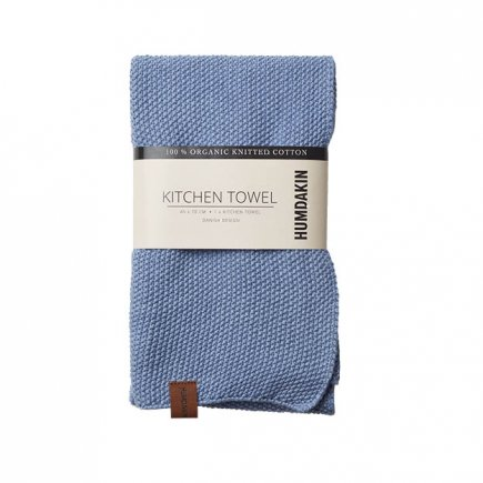 licht blauwe gebreide handdoek van Humdakin byJensen