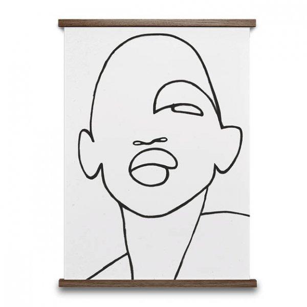 Faberge poster gezicht zwart en wit van paper collective