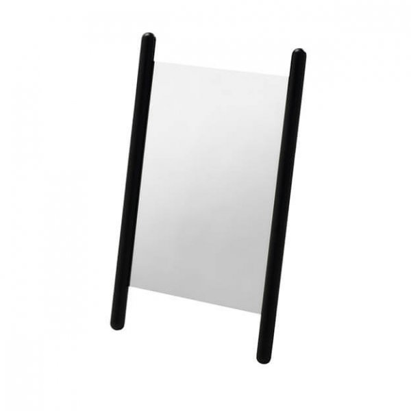 Georg tafel spiegel zwart eikenhout