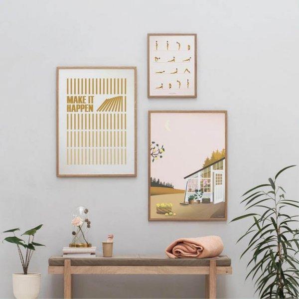 Garden life, Make it happen yellow poster van Vissevasse3