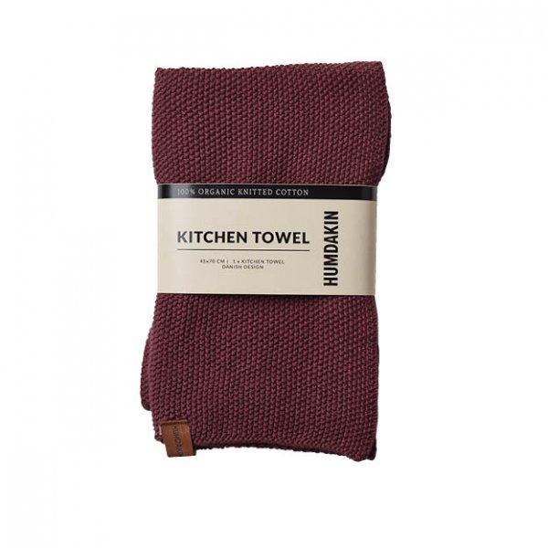 Gebreide handdoek violet plumb van Humdakin byJensen