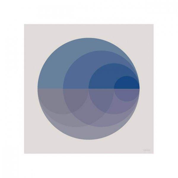 Grafische blauwe poster vierkant van Vissevasse