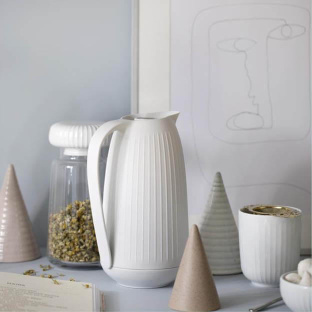 Witte Hammershoi thermoskan van Kähler Design byJensen