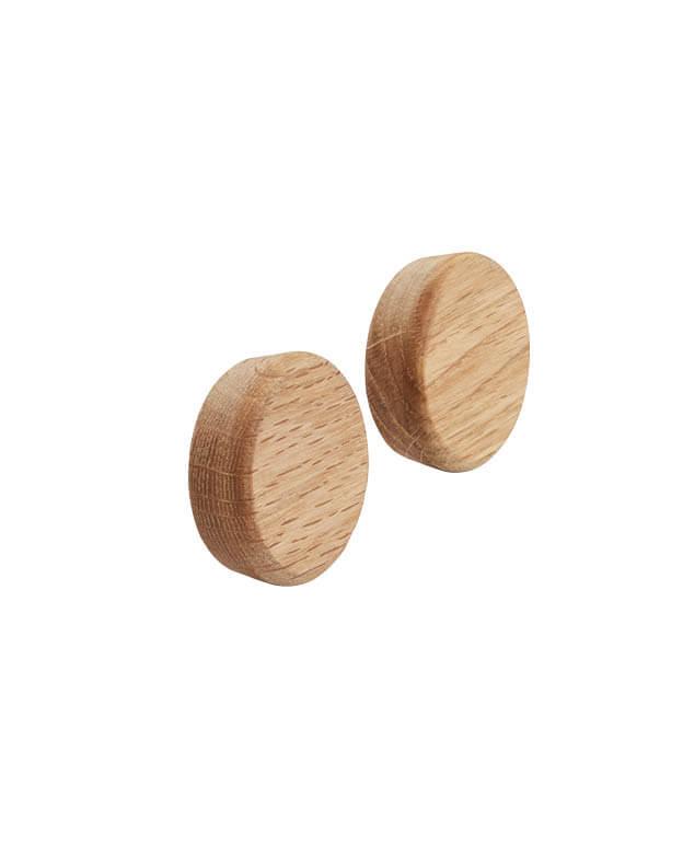 Flex button eikenhouten magneet voor het flexsysteem van Gejst Design byJensen