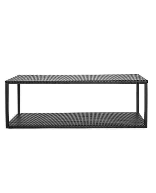 Gril Wall Shelf minimalistische wandplank wandkast in zwart staal van Kristina Dam Studio byJensen