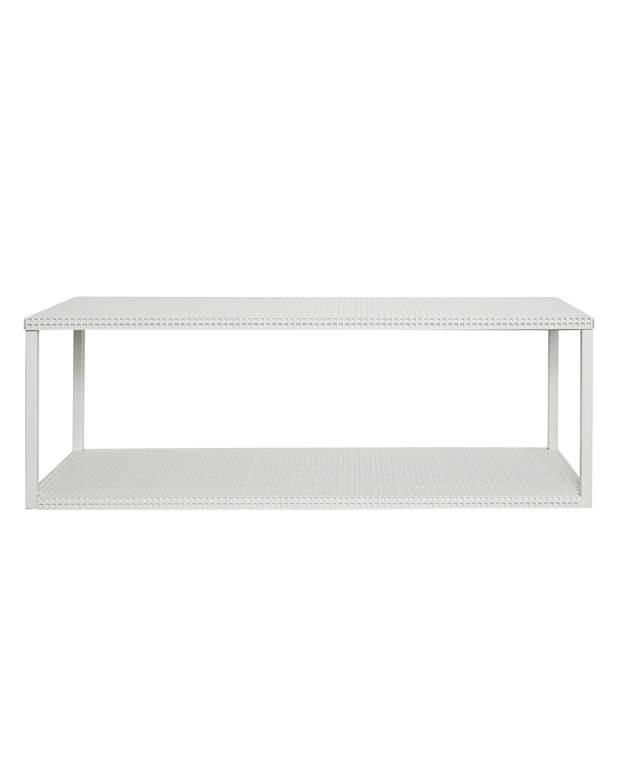 Gril Wall Shelf minimalistische wandkast in wit staal van Kristina Dam Studio byJensen