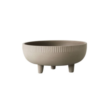 Bowl medium fruitschaal terracotta grijs Kristina Dam Studio byJensen