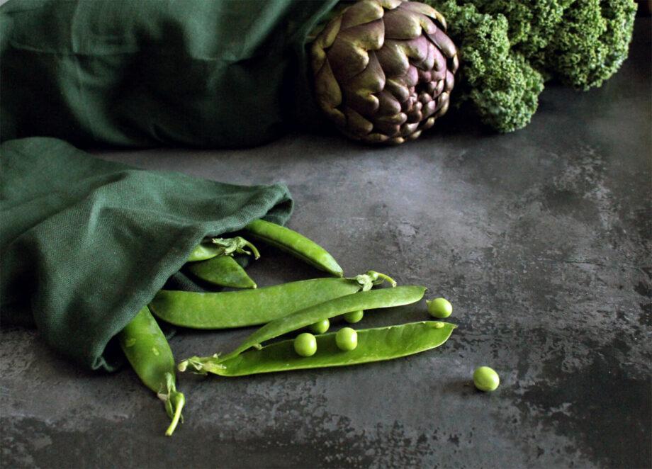 Katoenen bewaarzak voor groenten gots biokatoen byjensen