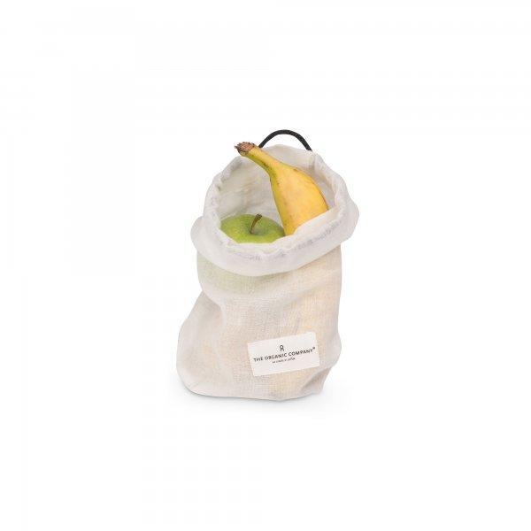 biologische Food Bag small wit bewaarzak The Organic Company byJensen