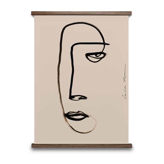 Serious Dreamer lijntekening van Loulou Avenue paper collective poster byJensen